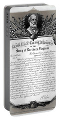 Portable Battery Charger featuring the mixed media General Robert E. Lee's Farewell Address To Confederate Soldiers by Daniel Hagerman