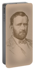 Portable Battery Charger featuring the mixed media General Ulysses S Grant by War Is Hell Store
