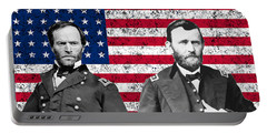 Generals Sherman And Grant  Portable Battery Charger