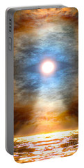 Gentle Mantra Om Light Glowing Into The Sea Portable Battery Charger by Wernher Krutein