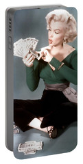 Portable Battery Charger featuring the painting Gentlemen Prefer Blondes Movie Art Staring Marilyn Monroe by R Muirhead Art