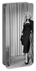 Portable Battery Charger featuring the photograph Gentlemen Prefer Blondes Staring Marilyn Monroe by R Muirhead Art