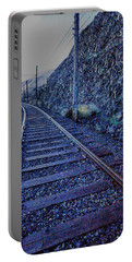 Portable Battery Charger featuring the photograph Gently Winding Tracks by Jeff Swan