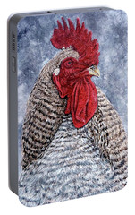 Portable Battery Charger featuring the painting Geoff by Tom Roderick