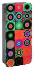 Portable Battery Charger featuring the digital art Geometric Abstract I by Mimulux patricia no No