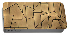Geometric Abstraction IIi Toned Portable Battery Charger