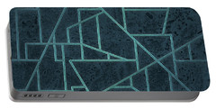 Geometric Abstraction In Blue Portable Battery Charger