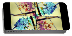 Geometric Blossoms Portable Battery Charger