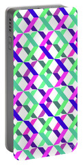 Geometric Crosses Portable Battery Charger