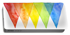 Geometric Watercolor Pattern Rainbow Triangles Portable Battery Charger