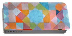 Portable Battery Charger featuring the digital art Geometry by Jutta Maria Pusl