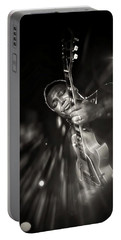 George Benson Black And White Portable Battery Charger