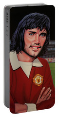 George Best Painting Portable Battery Charger