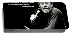 George Carlin Art  Portable Battery Charger by Pd