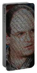 George Costanza Quotes Mosaic Portable Battery Charger by Paul Van Scott