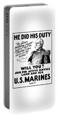 George Dewey - Us Marines Recruiting Portable Battery Charger