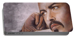 George Michael Portable Battery Charger by Patrice Torrillo