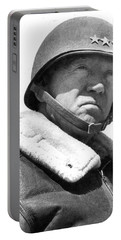George S. Patton Unknown Date Portable Battery Charger by David Lee Guss