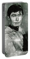 George Takei, Sulu From Star Trek Vintage Portable Battery Charger by Mary Bassett