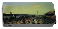 Portable Battery Charger featuring the photograph George Washington Bridge  by Cole Thompson