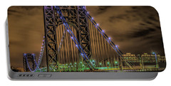 Portable Battery Charger featuring the photograph George Washington Bridge by Theodore Jones