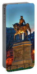 Portable Battery Charger featuring the photograph George Washington Statue In Boston Public Garden by Joann Vitali