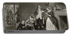 George Washington's First Interview With Mrs Martha Custis Portable Battery Charger
