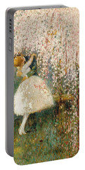 Georges Picard French 1857 1946 Romance Under The Blossom Tree Portable Battery Charger