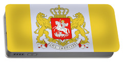 Portable Battery Charger featuring the drawing Georgia Coat Of Arms by Movie Poster Prints