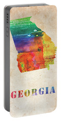 Georgia Colorful Watercolor Map Portable Battery Charger