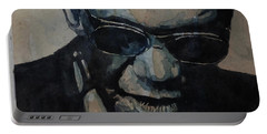 Georgia On My Mind - Ray Charles  Portable Battery Charger by Paul Lovering