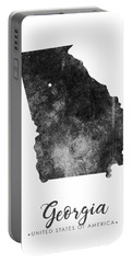 Georgia State Map Art - Grunge Silhouette Portable Battery Charger