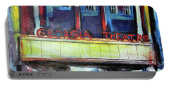 Portable Battery Charger featuring the painting Georgia Theatre by John Jr Gholson