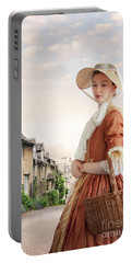 Georgian Period Woman Portable Battery Charger by Lee Avison