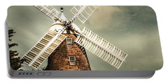 Portable Battery Charger featuring the photograph Georgian Stone Windmill  by Jorgo Photography - Wall Art Gallery