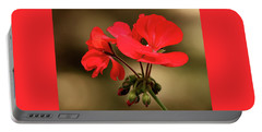 Portable Battery Charger featuring the photograph Geranium Blooms by Sheila Brown