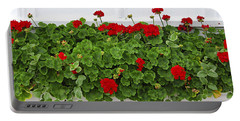 Geraniums On Window Portable Battery Charger