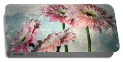Gerbera Daisies With A Splash Portable Battery Charger
