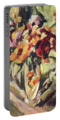 Gerberas In Glass Vase Portable Battery Charger