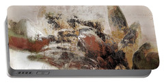 Portable Battery Charger featuring the mixed media Gerberie - 152s by Variance Collections