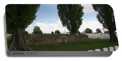 Portable Battery Charger featuring the photograph German Bunker At Tyne Cot Cemetery by Travel Pics