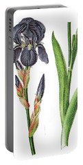 German Iris, Iris Germanica Portable Battery Charger