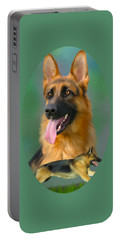 German Shepherd Breed Art Portable Battery Charger