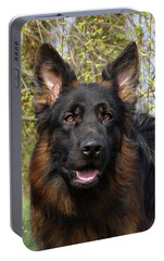Portable Battery Charger featuring the photograph German Shepherd Close Up by Sandy Keeton