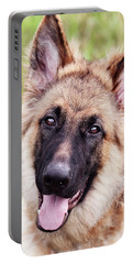 German Shepherd Dog Portable Battery Charger by Stephanie Frey