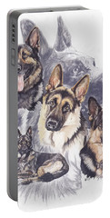 German Shepherd Medley Portable Battery Charger