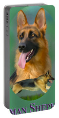German Shepherd With Name Logo Portable Battery Charger