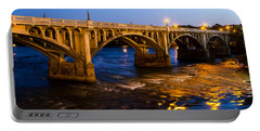 Gervais Street Bridge At Twilight Portable Battery Charger