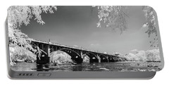 Gervais Street Bridge In Ir1 Portable Battery Charger by Charles Hite