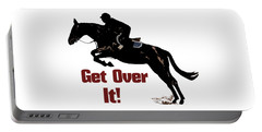 Get Over It Horse Jumper Portable Battery Charger by Patricia Barmatz